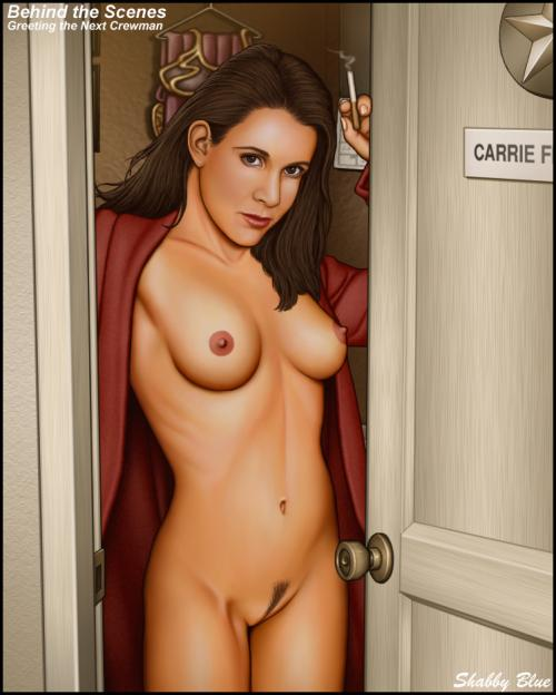Enjoy this drawing of the sexy Princess Leia (Carrie Fisher) with her ...